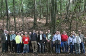 Gruppenbild Exkursion Odenwald 2015